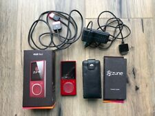 Zune for Repair / Parts 4Gb Red Microsoft Mp3 Media Player + Accessories *As-Is