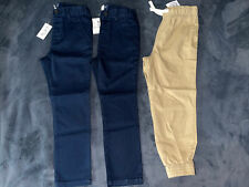 New Tcp The Childrens Place Boys uniform Chino jogger pants navy khaki size 5T