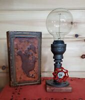 Handcrafted petite industrial edison style desk lamp, dorm lamp,