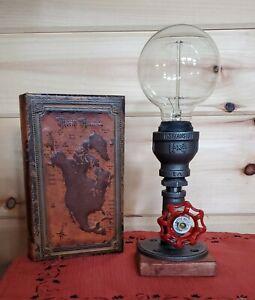 Handcrafted petite industrial edison style desk lamp, dorm lamp,