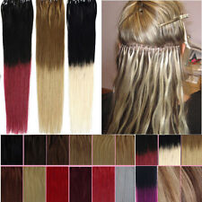 Easy Loop Micro Ring Natural Real Ombre Remy Human Hair Extensions Straight 16""