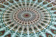 Brown Peacock Indian Mandala Cotton Wall Hanging Tapestry Bohemian BedSpread UK