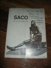1971 Don Saco Rome, Italy Gallery original Exhibition brochure bronze sculpture