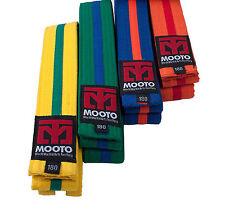Mooto Stripe Belt 4cm Wide Single Wrap 4 Types TKD Taekwondo Mixed Martial Arts