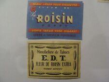 2 étiquettes Allumette - Tabac Fleur de ROISIN - E.D.T. - Belgium - (144)