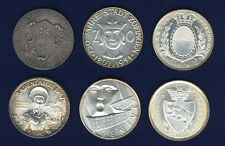 SWITZERLAND 1947-1971  SHOOTING MEDALS, MISC. SILVER MEDALS LOT OF (6)