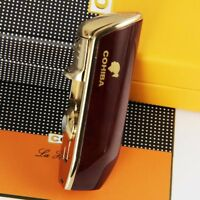COHIBA Red Wood Pattern Snake Mouth Torch Jet Flame Cigarette Cigar Lighter