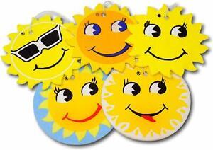 20x CAR AIR FRESHENER-ASSORTED-COVEVA SMILEY SUN HANGING CAR VALET UK Free Post