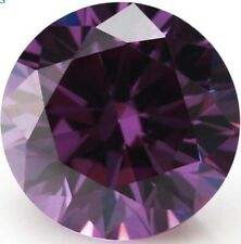 AAAAA Natural Round Purple Amethyst 43.7ct 20.0mm Faceted Cut VVS Loose Gemstone