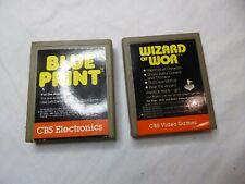 Atari 2600 Lot of 2 Blue Print & Wizard of Wor