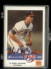 1986 Huntsville Stars Mark McGwire rookie autographed complete team set