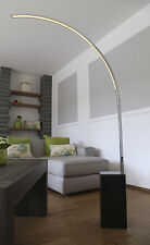 LED Design Stehlampe Bogenleuchte Standleuchte Bogenlampe Bogen mit Steinfuß