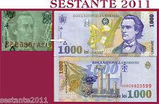 ROMANIA 1000 1.000 LEI  1998 Watermark tipe 1, Filigrana tipo 1 P 106  FDS / UNC