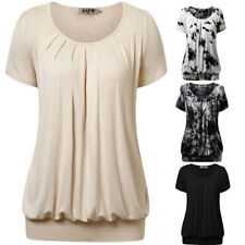 Unbranded Rayon Short Sleeve Casual Tops & Blouses for Women