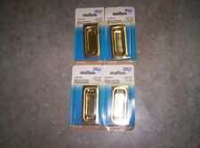 Flush Pull Brass finish National N115-774 V 141 4 Pieces New