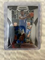 Zion Williamson Rookie Card  2019-20 Panini Prizm Draft Picks Base RC #64.  Duke