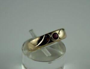 Goldring Ring Gelbgold Gold 585 (14K) - Rubin - Ø 17,1 mm - 3,02 g