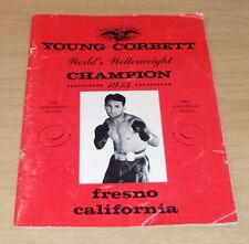 """1963 'SOUVENIR' Booklet BOXING History~""""YOUNG CORBETT"""" Billy Mahoney """"SIGNED""""~"""