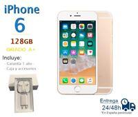 APPLE IPHONE 6 128GB DORADO REACONDICIONADO LIBRE / GRADO A+ / CAJA Y ACCESORIOS