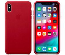 iPhone X 5,8″ Apple Genuine Original Leather Protective Case Cover Red