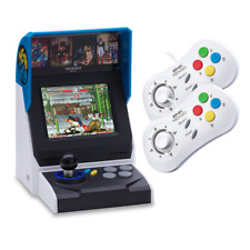 NEOGEO Mini Multi Player Bundle - Console with 40 games + 2 x White Controllers