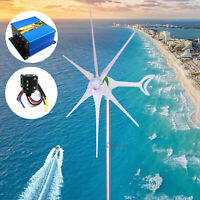 3500-5500W 12-24V 6Blades Wind Turbine Generator +Charger+SlipRing ,DC Rectifier