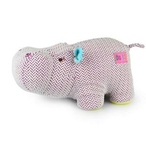 Korimco Giggles Soft Plush Toy 28cm Purple Hippo New With Tags