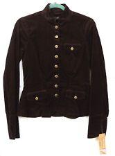 NWT Lauren Jeans Company Women's Size S Brown Corduroy Button Jacket $179 Ret MS