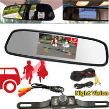 "7LEDs Night Vision Rear View Backup Camera Kit with 4.3"" TFT LCD Mirror Monitor"