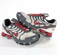 Nike Shox + NIKEiD Womens Size 7 M Running Shoes Red White Gray 326907-992