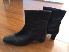 Easy Steps Women Ankle Boots Size 9.5C, Dark Brown , Leather