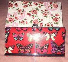 Gorgeous Large Red Purse Butterfly Pattern New In Box