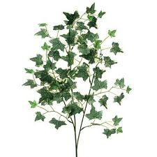 90cm Artificial Ivy Leaf Spray Variegated - Decorative Fake Foliage Plant