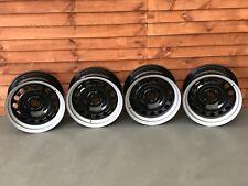 Banded steel wheels, Vw Golf Caddy Polo etc stance slammed, 4x100 15inch, rare