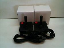 2  NEW RED BUTTON JOYSTICK CONTROLLER PADS + 2 6FT EXTENSION CABLES ATARI 2600