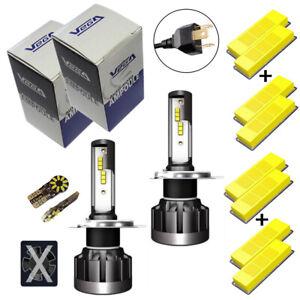 Kit Vega® Q6 FULL LED CSP 2 ampoules H4 360° 8000 lumens Couleur Xénon 6000K