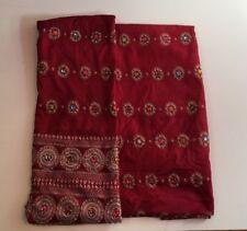 3 Piece Silk Unstitched Salwar Kameez Embroidered Suit Material Pakistani Indian