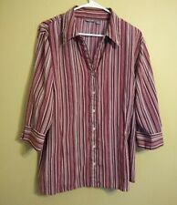 Women's APT. 9 Striped 3/4 sleeve Shirt Top 18/20, 1x