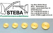 diversi numero di pezzi 0,8+1,0+1,5+2,0+3,0mm STEBA TUBO in ottone assortimento