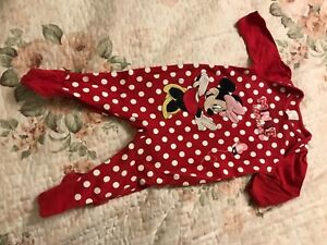 disney minnie mouse girl all in one suit 3-6 m