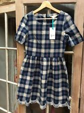 Cotton Check Skater Short/Mini Dresses