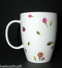 NEW ROYAL ALBERT COUNTRY ROSE BUDS WHITE+MULTI-COLOR 11.5 oz COFFEE MUG,TEA CUP