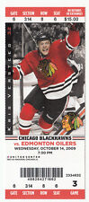 2009 CHICAGO BLACKHAWKS VS EDMONTON OILERS FULL TICKET STUB 10/14/09 VERSTEEG