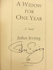John Irving, WIDOW FOR ONE YEAR *SIGNED* 1998 HBDJ 1ST/1ST LIKE NEW, Very SCARCE