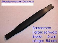 6 x 54 cm Akkordeon (Leder) Bassgurt, Bassriemen,     accordion bass belt, strap