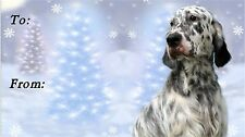English Setter Christmas Labels by Starprint