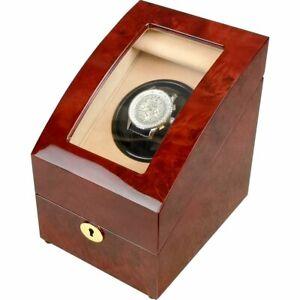 Single Laminated Makah Burlwood Curved Automatic Watch Winder