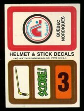 1979-80 TOPPS HOCKEY WAX PACK INSERT DECAL TEAM STICKER QUEBEC NORDIQUES MINT