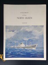 Ancienne plaquette lancement Cargo North Queen Illustrée par Gosselin 1959