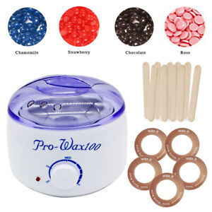 Depilatory Hair Removal Brazilian Hard Wax Bean Warmer Heater Pot Machine Kit AU
